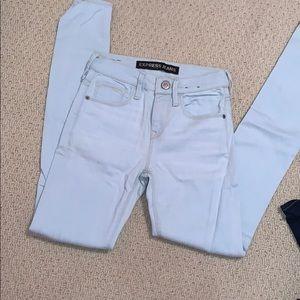 Express light blue skinny jeans